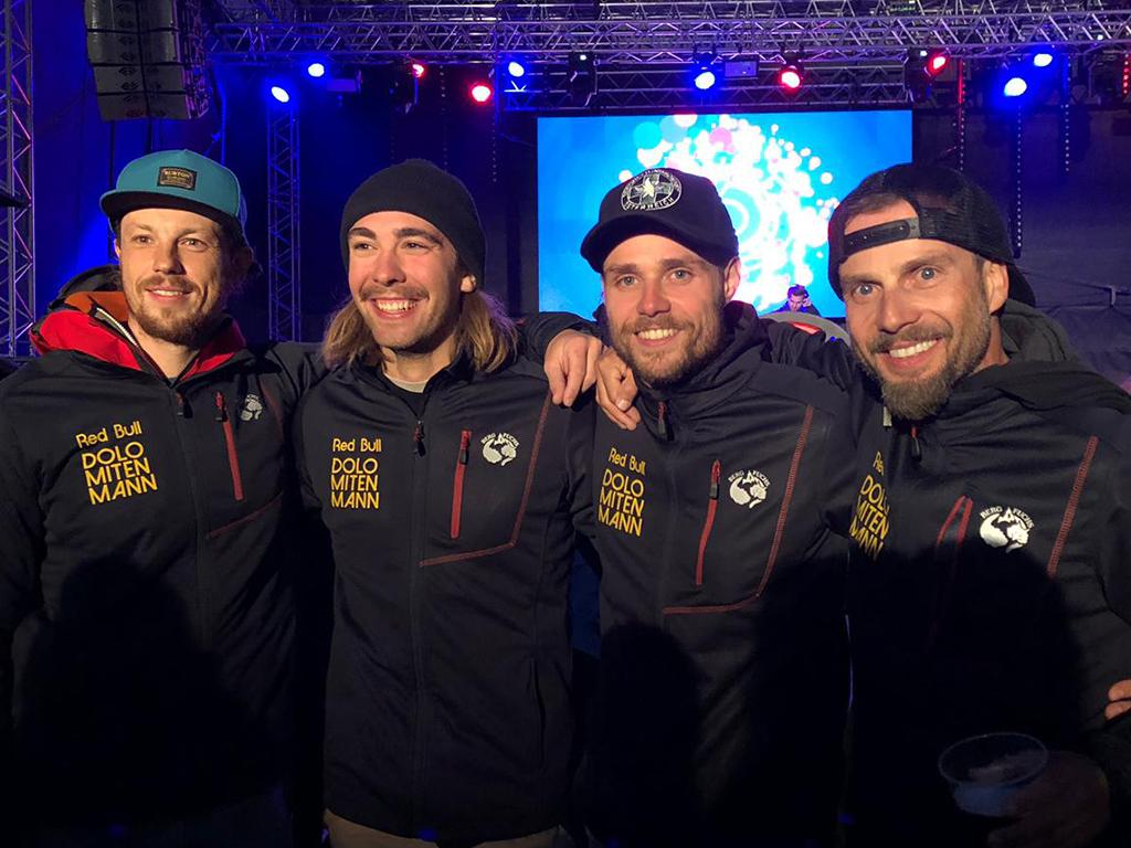 Team Glas Hirschmugl beim Red-Bull Dolomitenmann